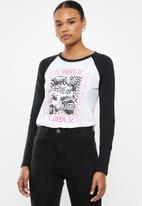 Vans - Sting long sleeve raglan - white & black