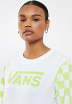 Vans - Big bold long sleeve boyfriend tee - white & green