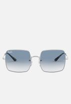 Ray-Ban - Square clear gradient blue (adv) - silver