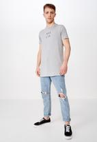 Cotton On - Longline scoop hem tee - grey