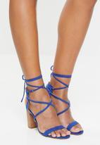 Madison® - Criss-cross strappy block heel - blue