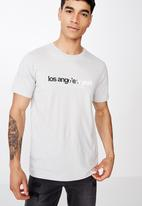 Cotton On - Tbar text T-shirt - grey