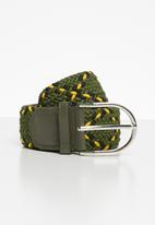 Superbalist - Webbing belt - green & yellow