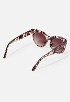Cotton On - Wendi cateye sunglasses - brown & cream