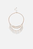 Cotton On - Alpha persei modern metals necklace - gold