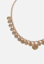 Cotton On - Capella modern metals coins necklace - gold