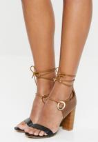 Miss Black - Adamina 2 heel - black & brown