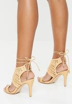 Miss Black - Crochet stiletto heel - neutral