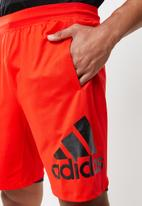 adidas Performance - 9inch Sport shorts - red