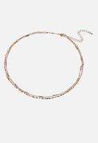 Cotton On - Pyxis modern metals pearl choker  - gold
