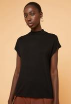 Superbalist - High neck soft feel tee - black