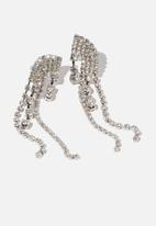 Cotton On - Believer modern metals earring - silver