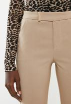 Sissy Boy - Mid rise trousers with gold tab - neutral