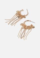 Cotton On - Tambourine modern metals hoop ear - gold