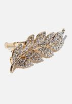 Cotton On - Sweet leaf hair barrette - silver & gold