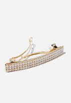 Cotton On - Shes so me pearl hair barrette - gold