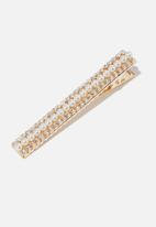 Cotton On - Beautiful stranger pearl hair barrette - gold