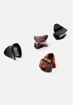 Cotton On - 4 Pack mini clips - black & brown