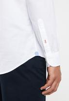 Tommy Hilfiger - Colourblock shirt - blue & white