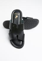 POLO - Ethan leather sandal - black