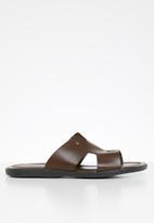 POLO - Ethan leather sandal - brown
