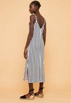 Superbalist - Knit strappy dress - black & white