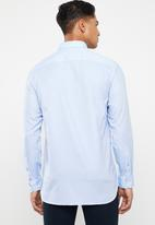 Tommy Hilfiger - Two tone end on end dobby shirt - blue