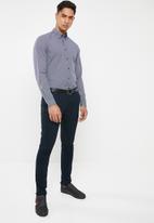 Tommy Hilfiger - Essential slim micro dot shirt - navy & white