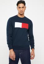 Tommy Hilfiger - Chest flag logo sweatshirt - navy