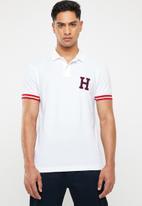 Tommy Hilfiger - Monogram cotton polo - white