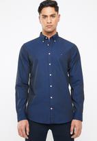 Tommy Hilfiger - Plain shirt - navy & blue