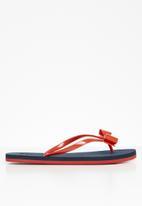 POLO - Mila jelly flip flops - navy & red