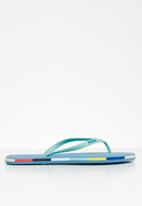 POLO - Tessa flip flops - turquoise & blue