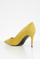 POLO - Candice faux suede court heels - yellow