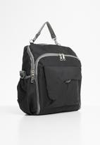 Escape Society - Diaper travel backpack - black