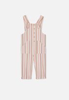 Cotton On - Madeleine stripe jumpsuit - pink & brown