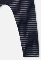Cotton On - Lexi stripe pant - navy & white