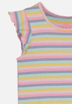 Cotton On - Kaia rainbow stripe tank - multi