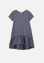 Cotton On - Joss short sleeve stripe dress - navy