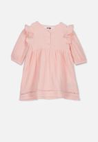 Cotton On - Aurora long sleeve dress - pink