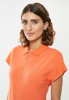 POLO - Eva zip detail golfer - orange