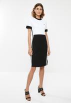 POLO - Gina colour blocked dress - black & white