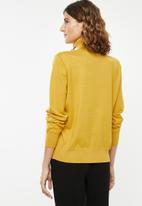POLO - Aimee long sleeve polo neck - yellow