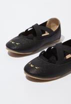 Cotton On - Kids primo ballet shoes - black