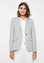 POLO - Christina long sleeve knit blazer - grey