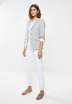 POLO - Christina long sleeve knit blazer - grey