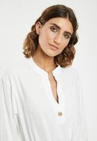 edit - Linen rope front dress - white