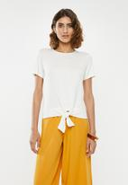 edit - Knot front tee - white