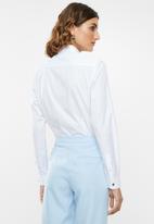 POLO - Laura dobby shirt - white