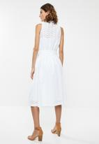 POLO - Dawson anglaise dress - white